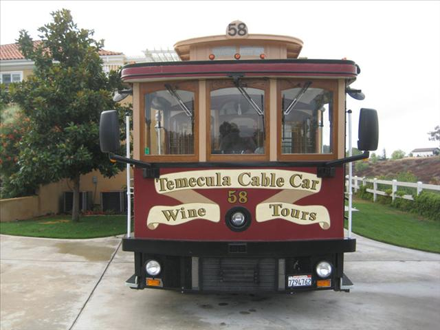 Exterior of a Cable Car for Temecula Cable Car Wine TOurs