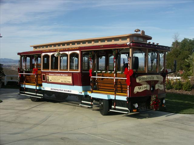 Red Motorized Cable Car