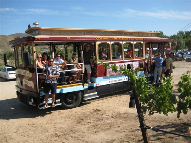 Fully-restored Cable Car for Temecula Cable Car Wine Tours